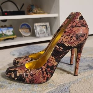Ted Baker London Exotic Leather Pumps